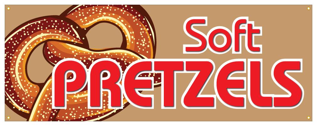 Soft Pretzel I Concession Decal Stand cart Trailer Sign