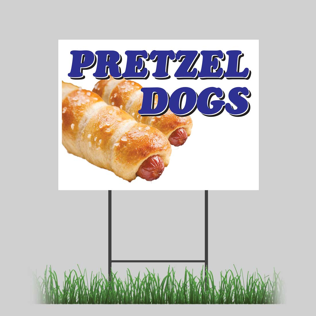 18x24 Chili Dogs Yard Sign Hot Dog Traditional Onion Concession Stand Sign