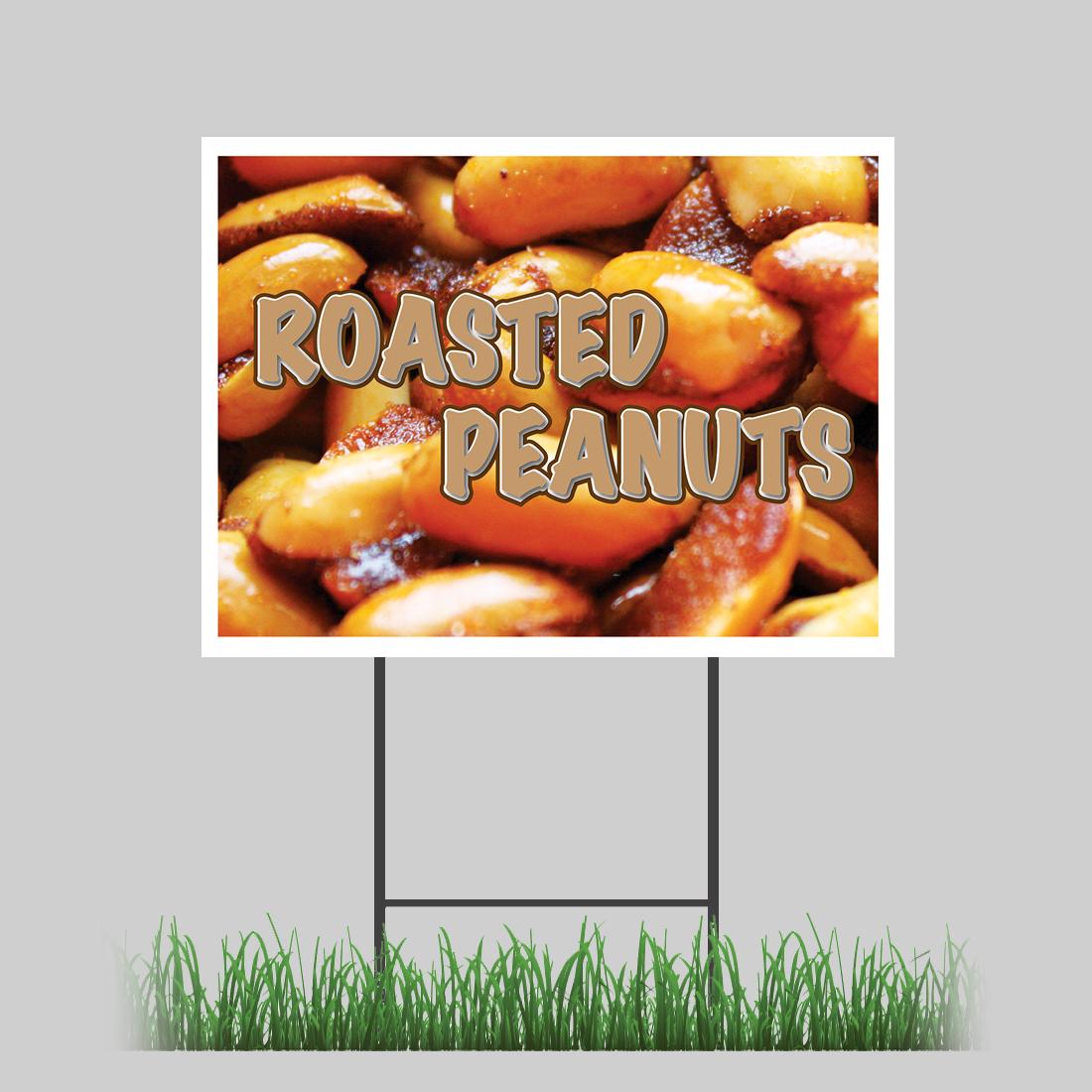 18x24 Pork Rinds Yard Sign Hot Fresh Crispy Skin Fried Salty Concession Stand