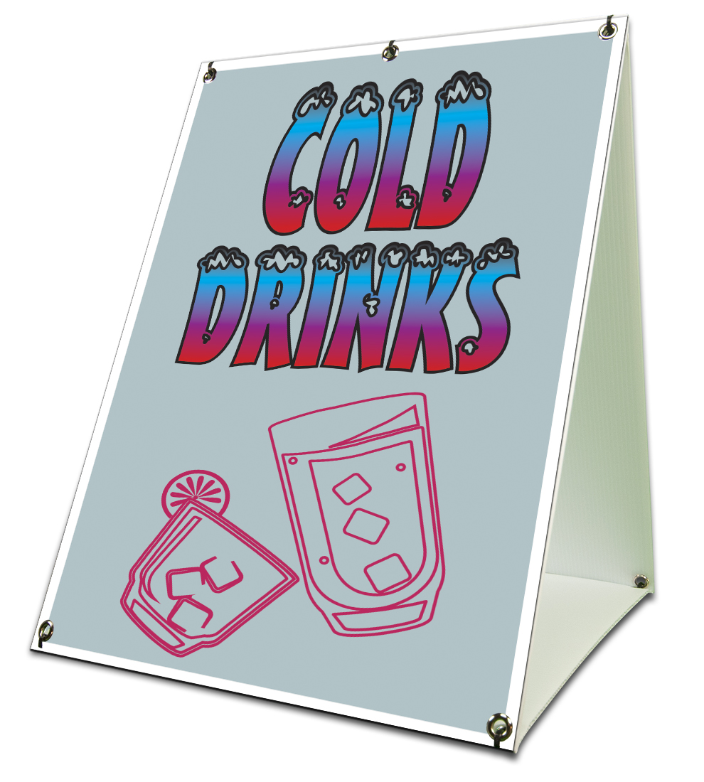 "Cold drinks Sidewalk Sign Retail A Frame 18""x24 ... 