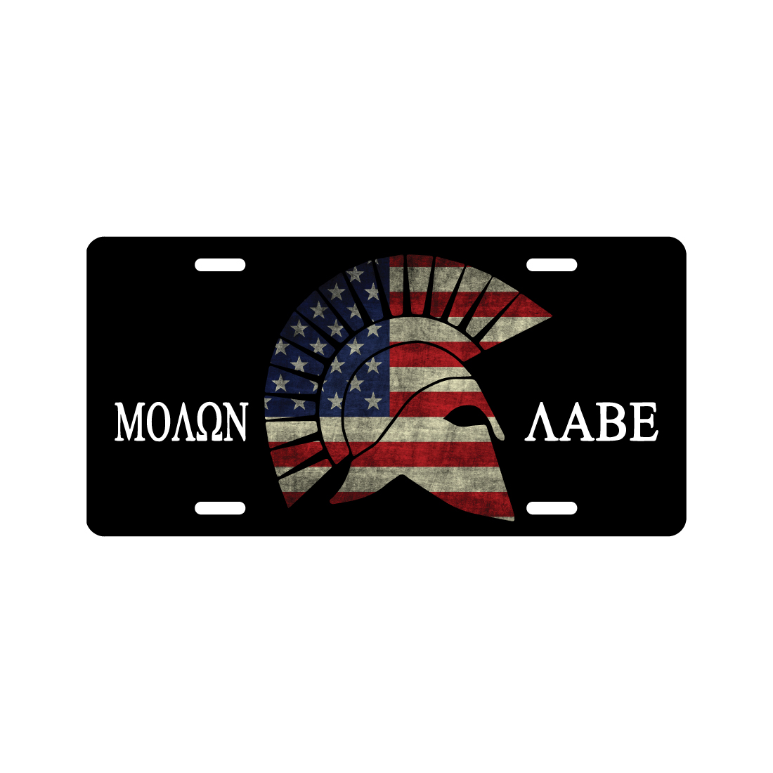 Molon Labe American Flag License Plate 2nd amendment Novelty Tag cheapyardsigns