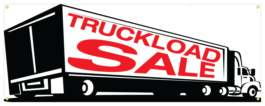 furniture sale sign. Truck Load Sale Banner Furniture Store Closing Cheap Retail Sign 36x96 T