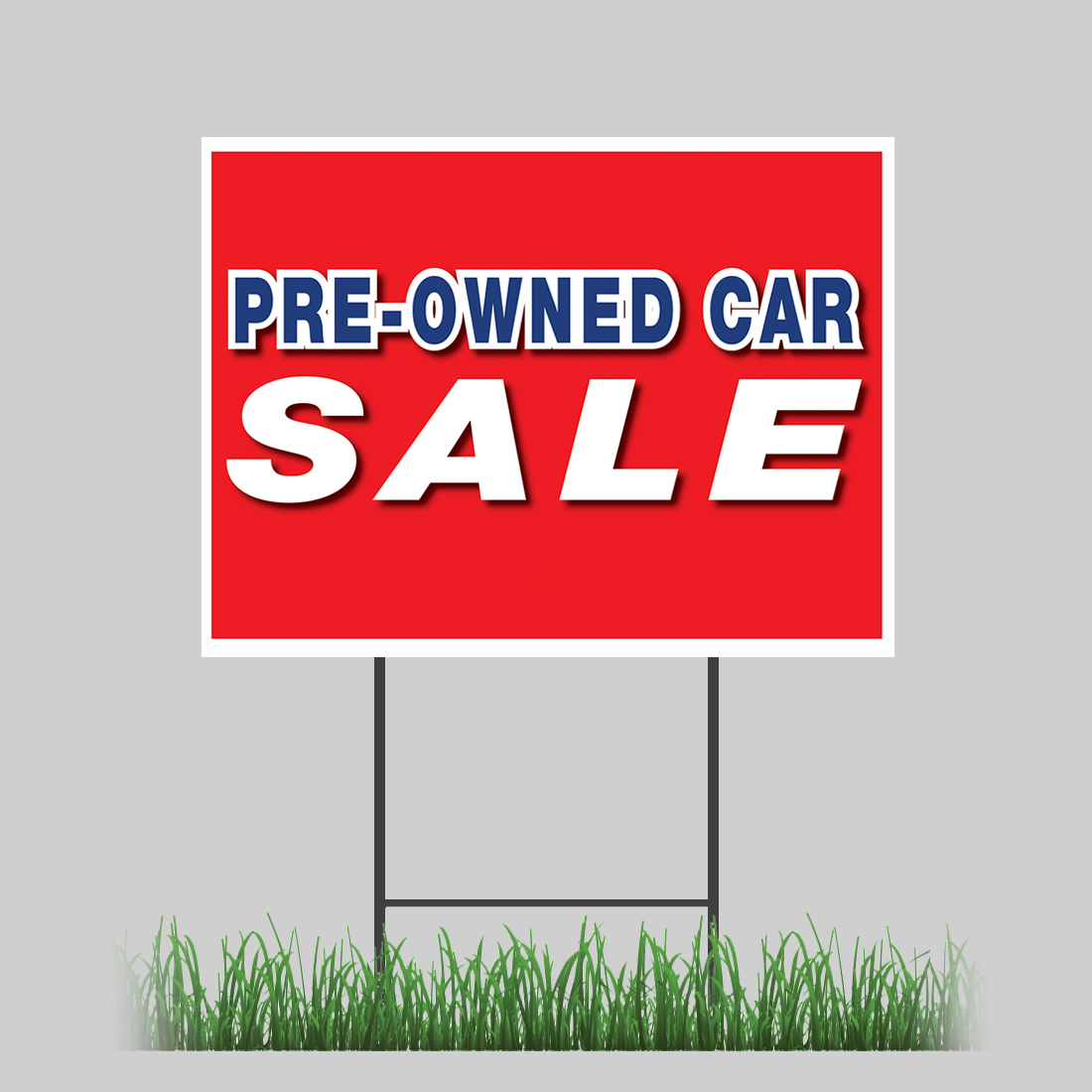 12 u0026quot x18 u0026quot  used preowned car sale red yard sign with stake