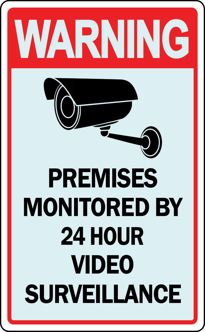 Warning Property under 24 Hour Video Surveillance Recording Sign ...