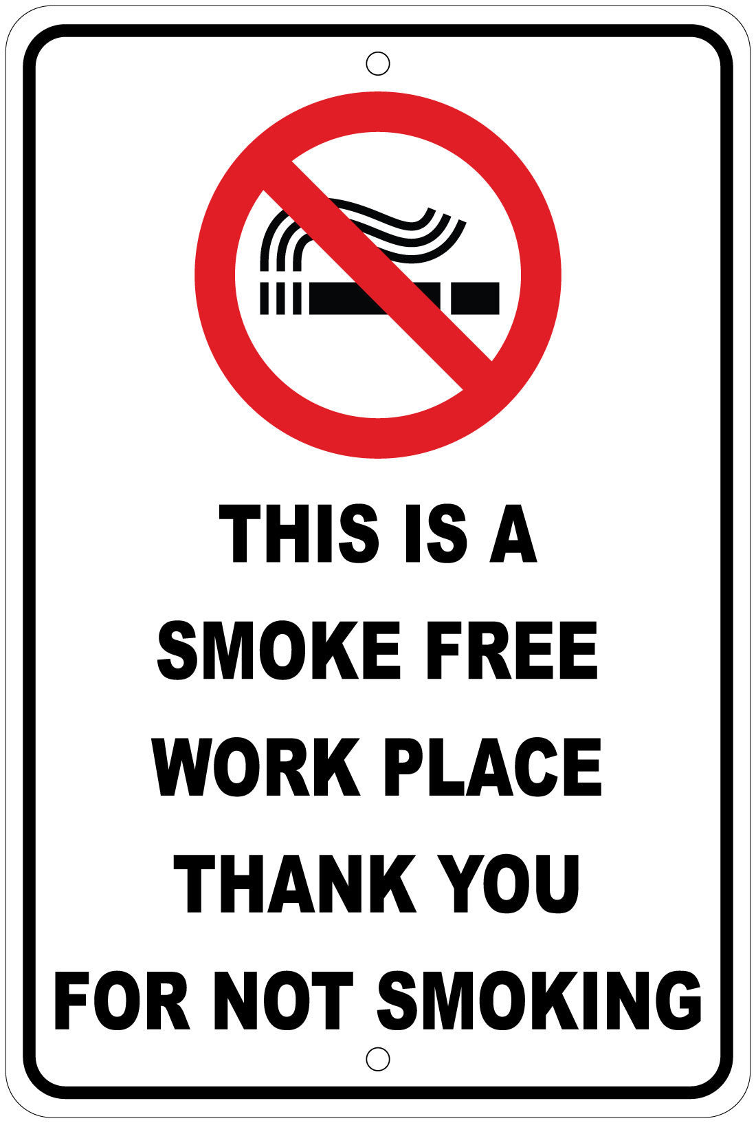 "No Smoking On Premises Aluminum Metal 8/"" x 12/"" Sign Safety Warning Notice"